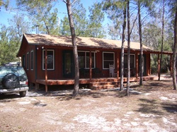 Rustic Orlando Cabin Rental Front View